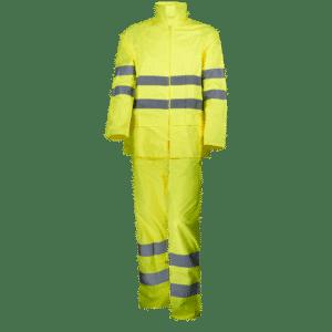conjunto traje de lluvia alta visibilidad amarillo