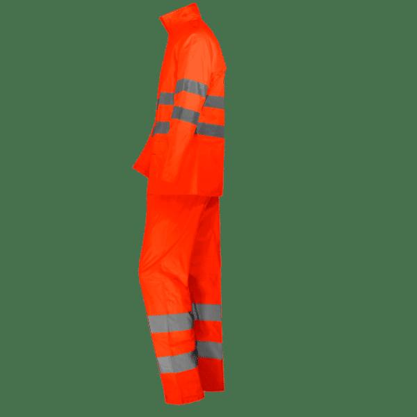conjunto traje de lluvia alta visibilidad naranja