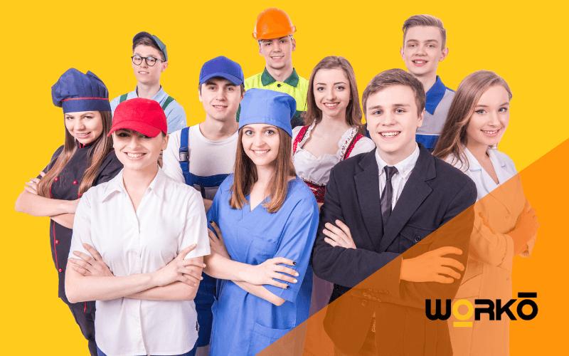 Tipos de uniformes de trabajo por sectores