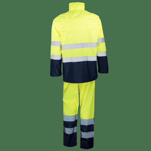 traje profesional para lluvia ropa laboral amarillo azul
