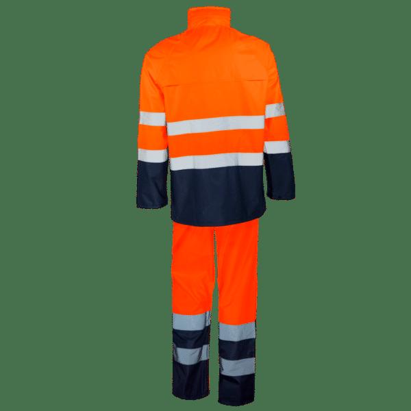 traje profesional para lluvia ropa laboral naranja azul
