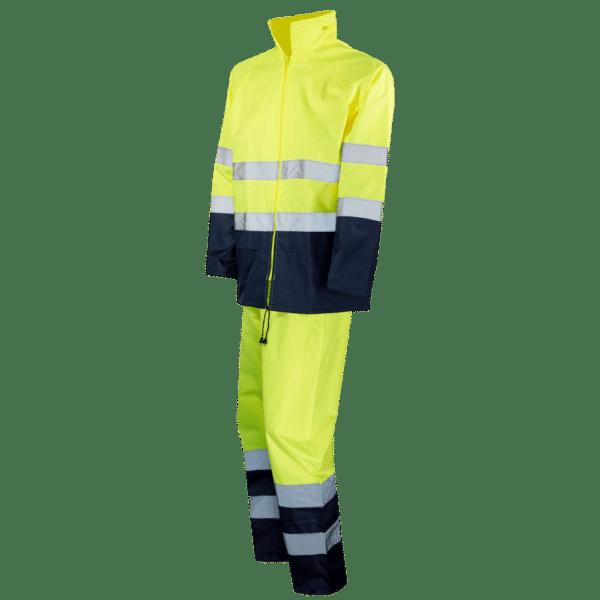 traje profesional para lluvia ropa laboral amarillo