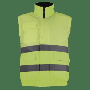 chaleco impermeable alta visibilidad amarillo